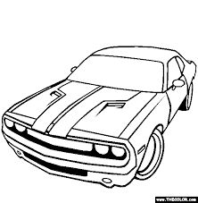 222x227 Dodge Challenger G T Coloring Page Teacher Stuff