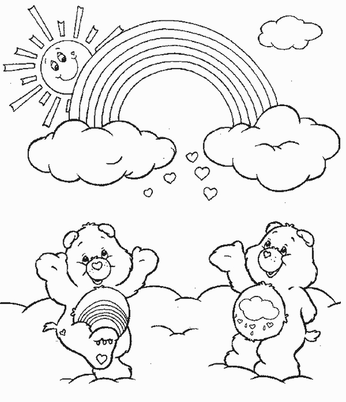 675x784 Care Bears Coloring Pages Team Colors