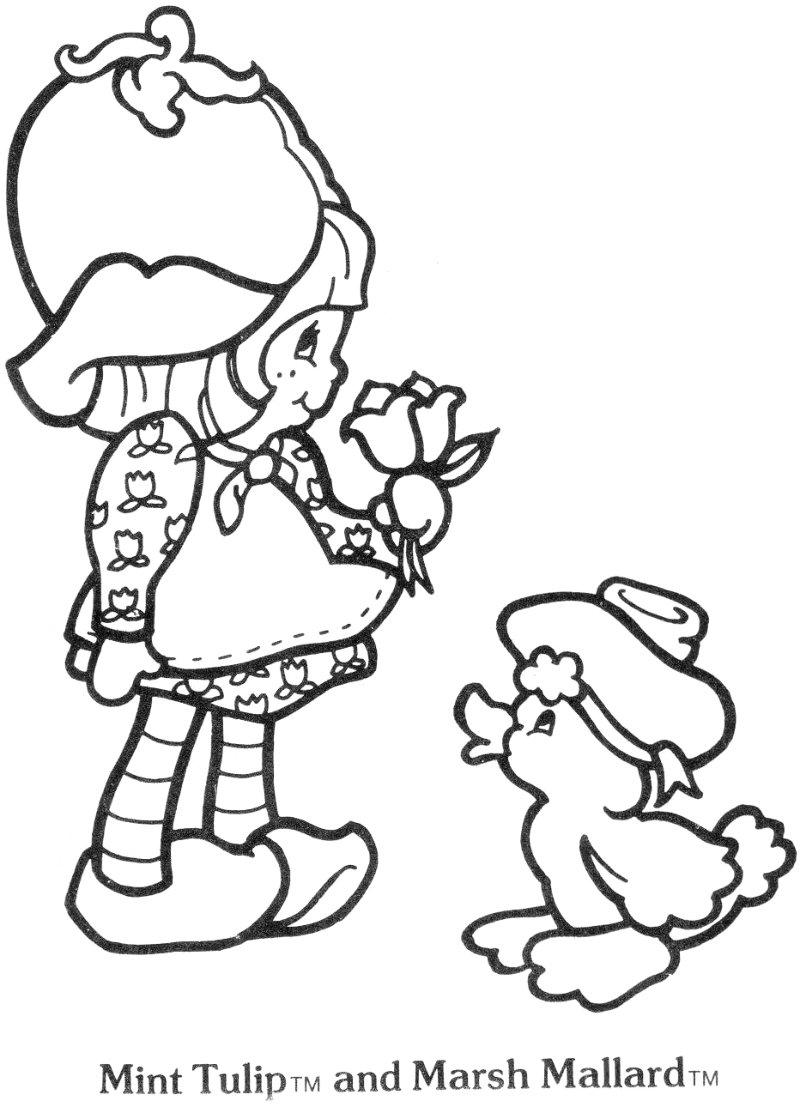 800x1107 Strawberry Shortcake Coloring Pages