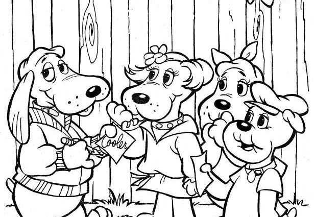 617x425 Coloring Pages Poundpuppies Coloring Page Coloring