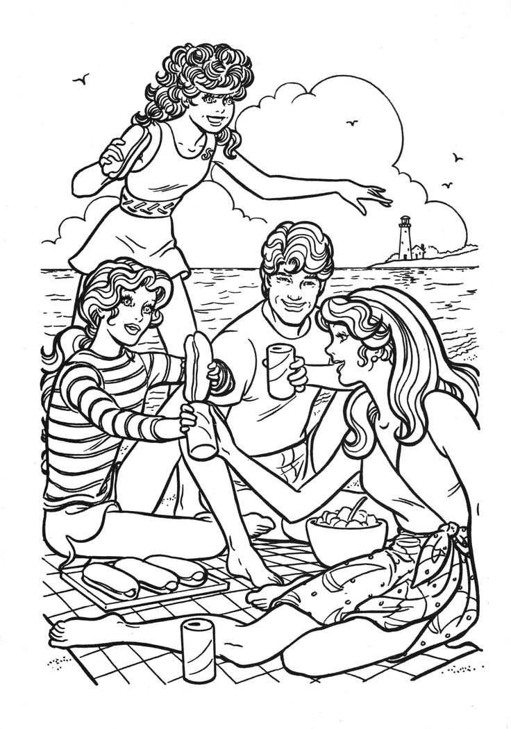 736x1050 Best Images On Barbie Coloring Pages