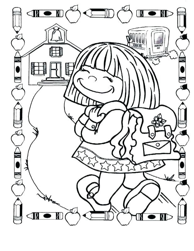 1st Day Of School Coloring Pages