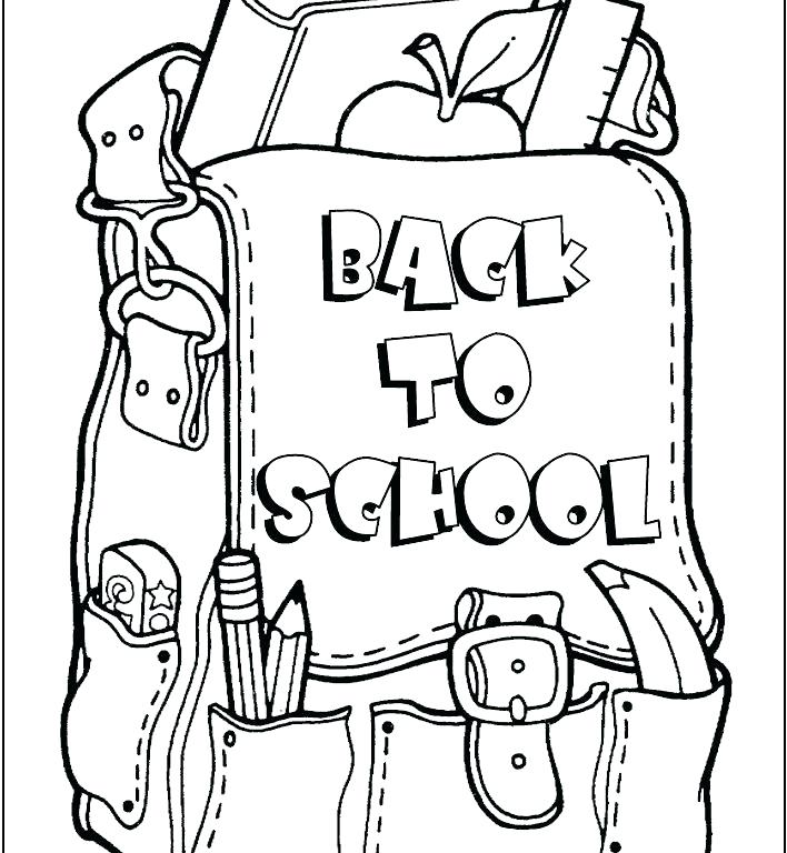 708x768 First Day Of School Coloring Pages Back To Page For Adults