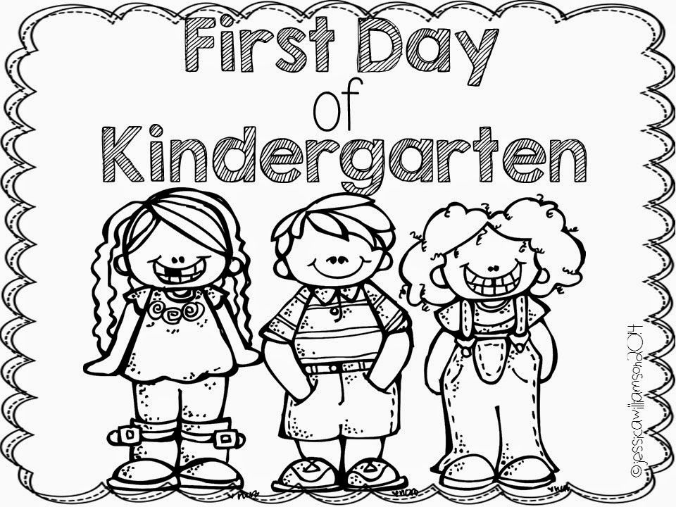 960x720 First Day Of Kindergarten Coloring Page First Day Of School