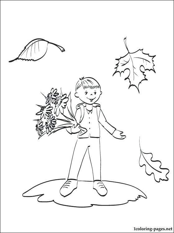 560x750 First Day Of School Coloring Page