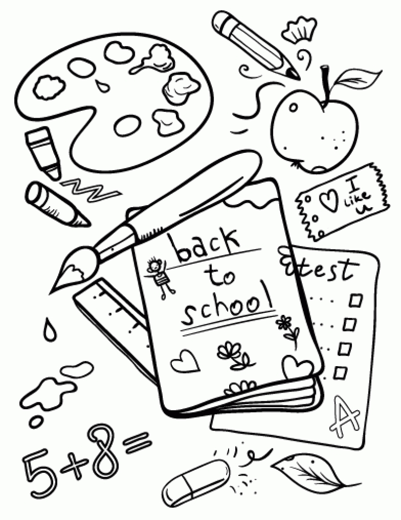 791x1024 Best First Day Of Kindergarten Coloring Page L