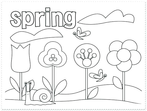 615x467 Grade Coloring Pages Together With Spring Coloring Sheets