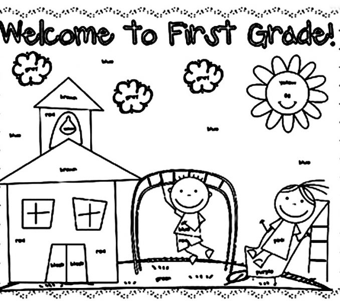 678x600 First Grade Coloring Pages Coloring Page