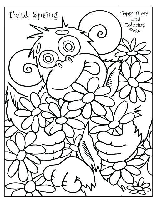 502x650 Spring Coloring Sheets For First Grade Coloring Pages For Spring