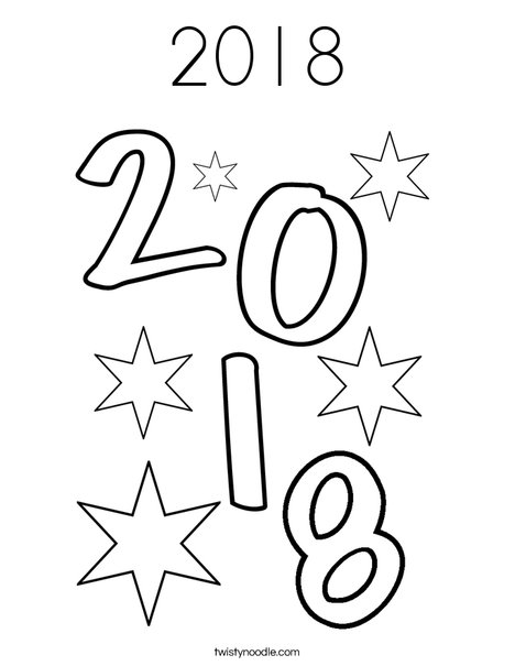 2018 Coloring Page