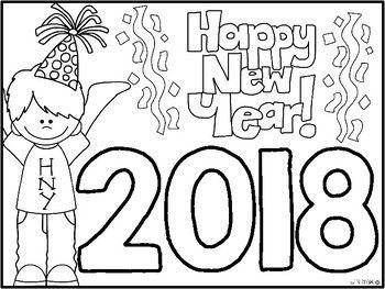 350x263 Freebie} Happy New Year Coloring Sheet Takvim