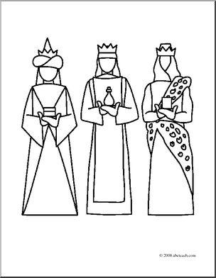304x392 Clip Art Religious Kings