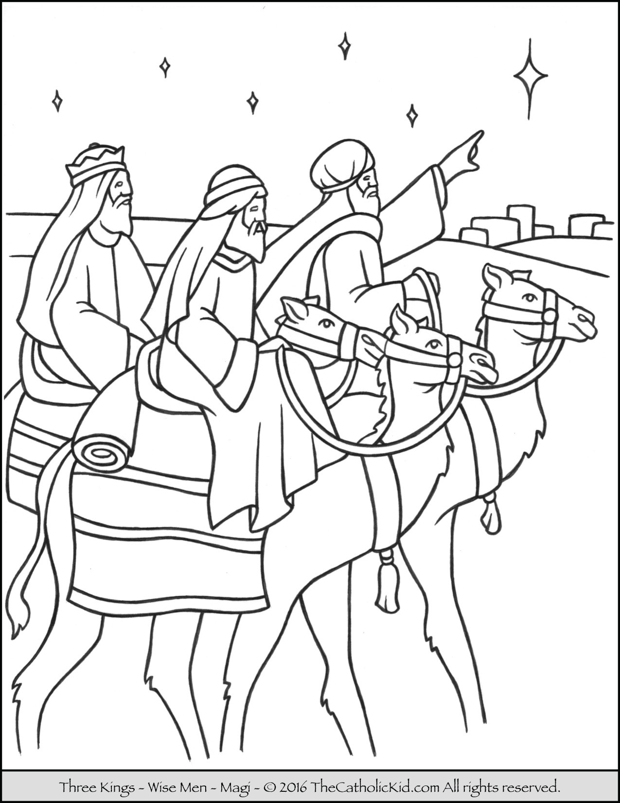 1275x1650 Coloring Pages Wise Men