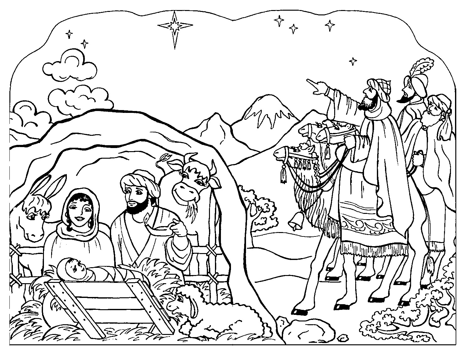 1485x1132 Luxury Three Kings Day Coloring Pages Free Christian For Children