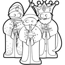 220x220 Three Wise Men Coloring Pages