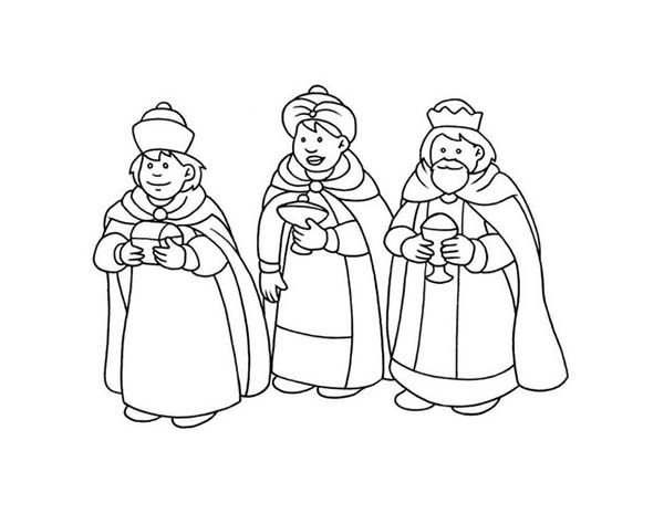 600x465 Three Kings Coloring Pages For Kids Batch Coloring