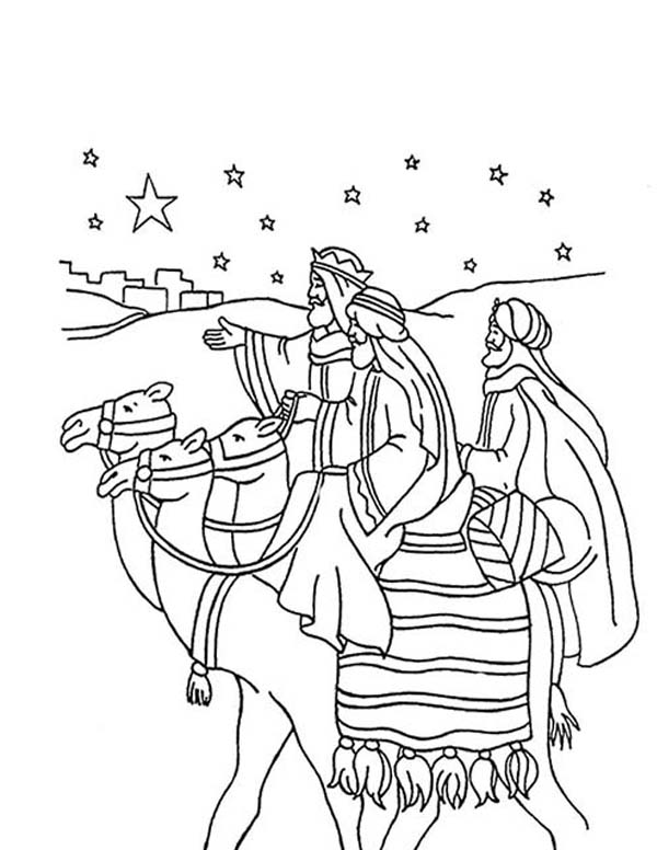 600x776 Three Kings Journey Coloring Pages Batch Coloring