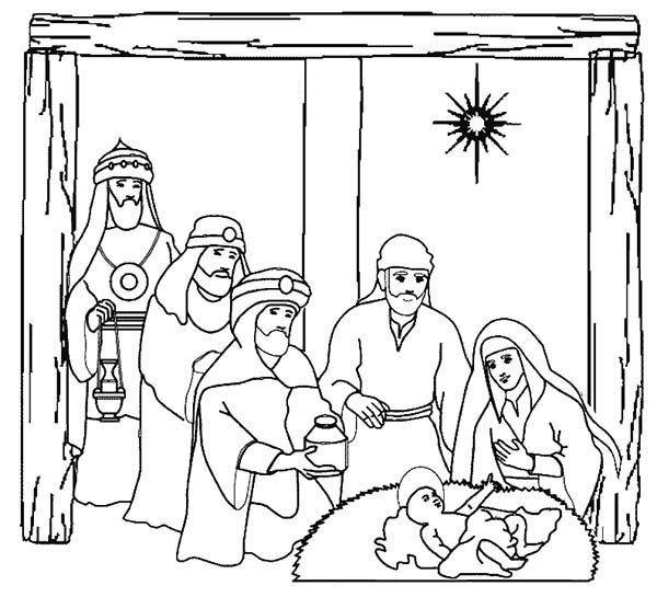600x545 Three Kings On Nativity Of Jesus Coloring Pages Batch Coloring