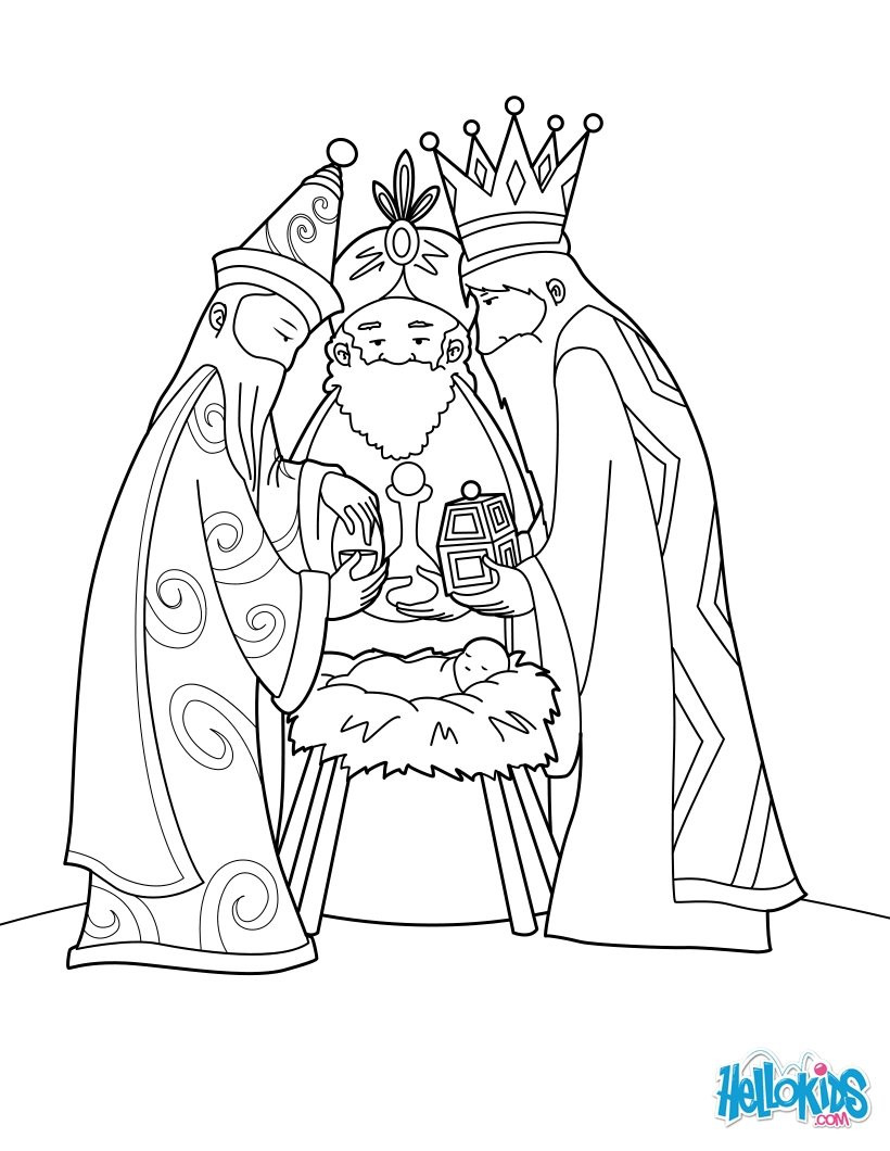 820x1060 Three Wise Men Coloring Pages About Christmas Colouring Bibl