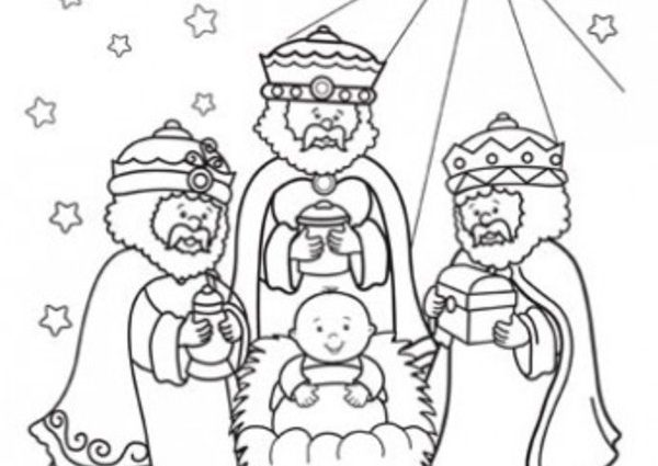600x425 Kings Coloring Pages Wisemen Craft Three Wise Men Coloring Page