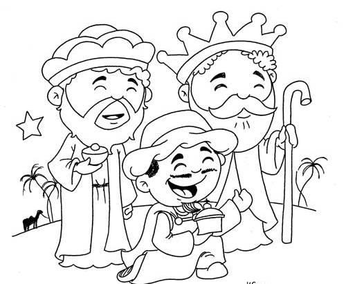 500x411 Christmas Three Kings Coloring Page