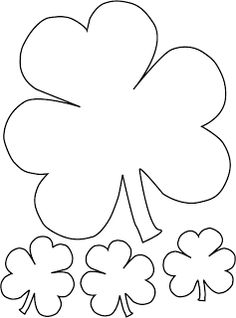3 Leaf Clover Coloring Pages