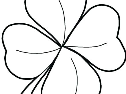 440x330 Clover Coloring Pages Three Leaf Clover Coloring Page Printable