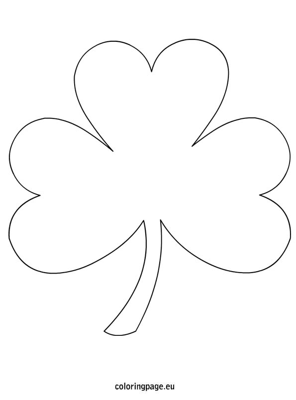 595x804 Four Leaf Clover Coloring Page Clipart Breathtaking