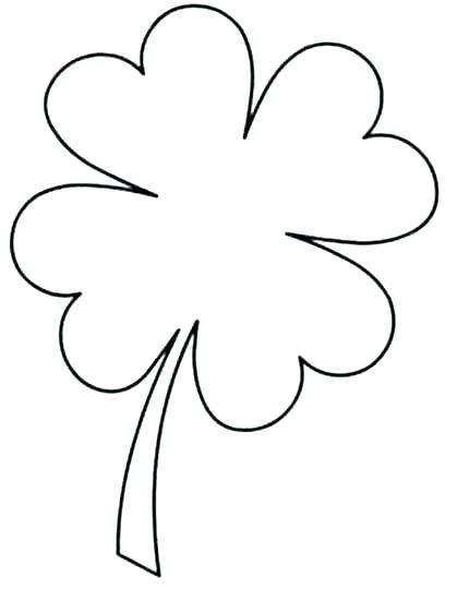 419x540 Four Leaf Clover Coloring Pages Leaf Clover Coloring Page New