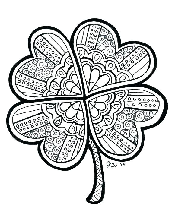 570x713 Four Leaf Clover Coloring Pages Four Leaf Clover A Common Three