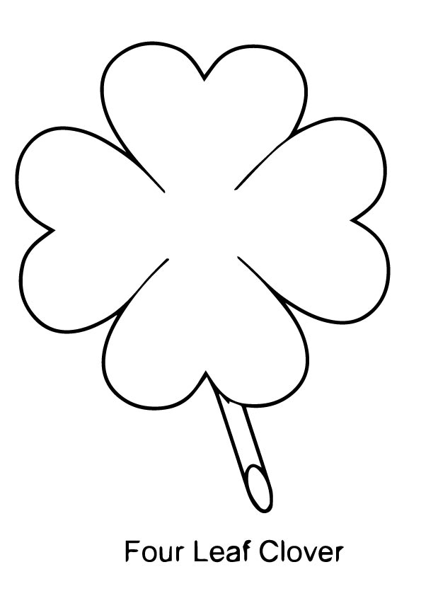 595x842 Free Four Leaf Clover Coloring Pages To Print