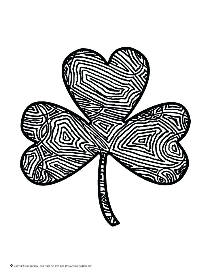 736x952 Free Shamrock Coloring Pages A Free Shamrock Coloring Page Used