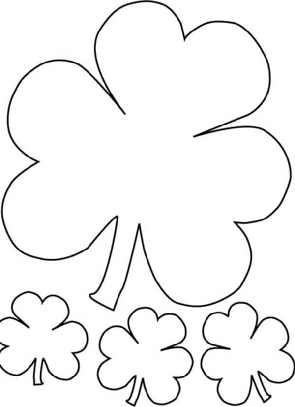 600x827 The Irish Called Three Leaf Clover As Shamrock Coloring Page