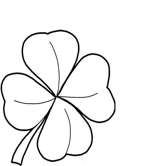 500x531 Three Leaf Clover Coloring Page