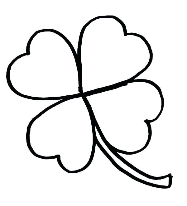 600x661 Clover Coloring Clover Coloring Page Clover Coloring Pages