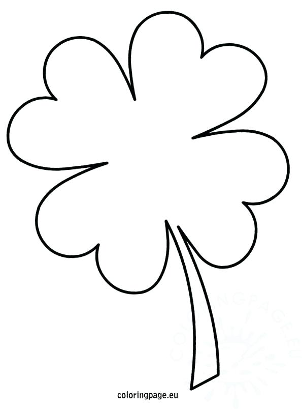 595x804 Clover Coloring Pages Four Leaf Clover Coloring Page Four Leaf