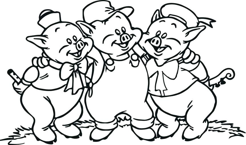 3 Little Pigs Coloring Page