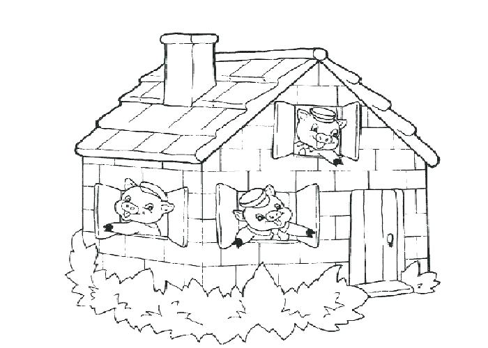 700x500 Guinea Pig Coloring Page The Three Little Pigs Coloring Pages