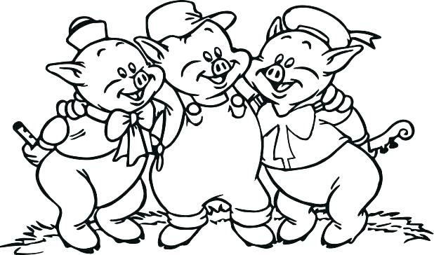 618x364 Pigs Coloring Pages Three Little Pigs Coloring Page Pigs Coloring
