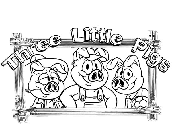 600x460 Story Of Three Little Pigs Coloring Pages Batch Coloring