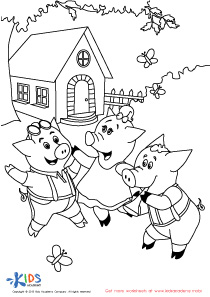 210x297 The Three Little Dancing Pigs Free Coloring Pages For Little Kids