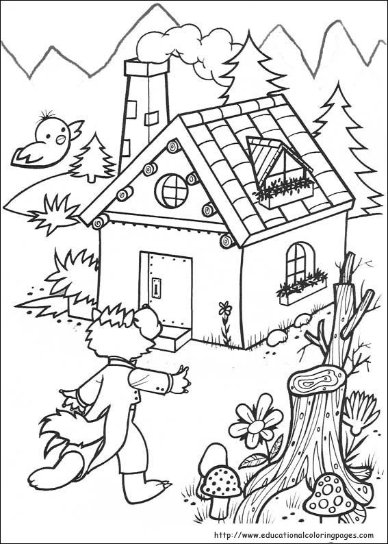 567x794 The Three Little Pigs Coloring