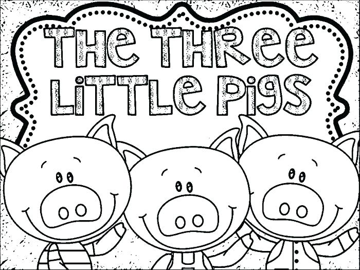 700x525 Little Pigs Coloring Pages Little Pigs Coloring Page Three