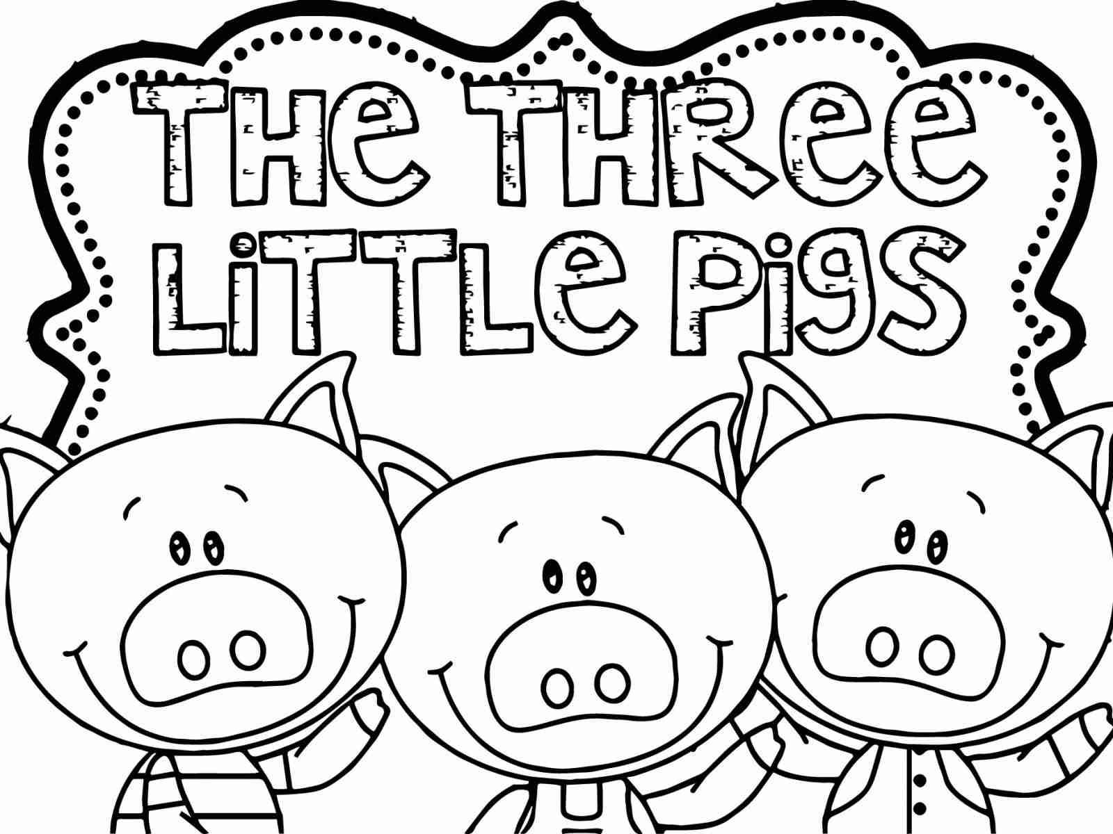 1600x1200 Three Little Pigs Color Page Olegratiy