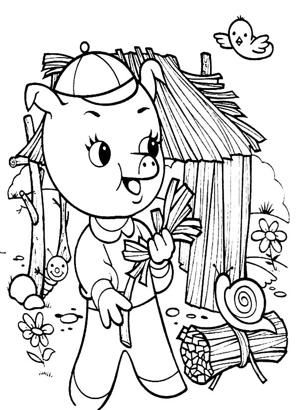600x825 Three Little Pigs Coloring Pages Batch Coloring