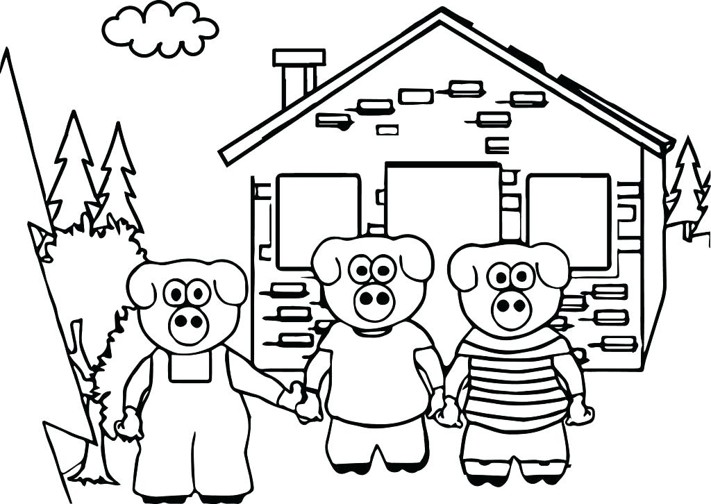 1024x726 Three Little Pigs Coloring Pages Coloring Sheets For The Three