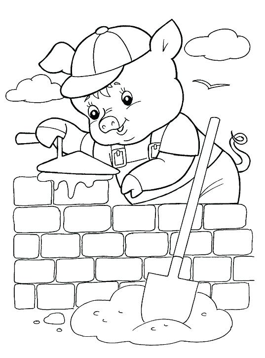 537x725 Three Little Pigs Coloring Pages For Printable For Free Three