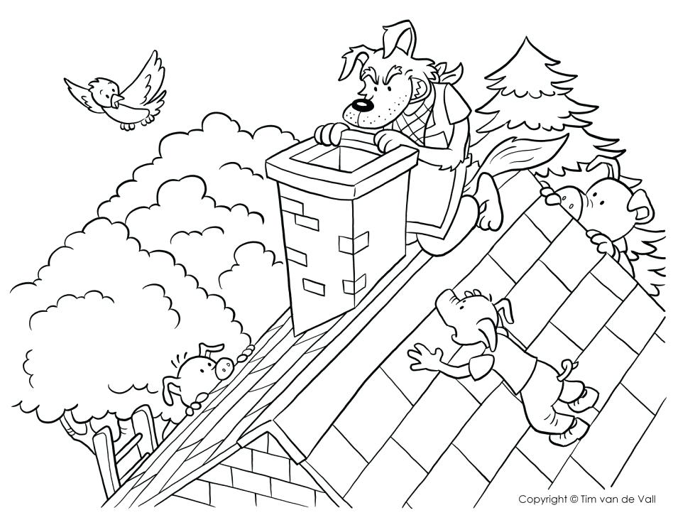 948x732 Three Little Pigs Coloring Pages Free Printable Coloring Three