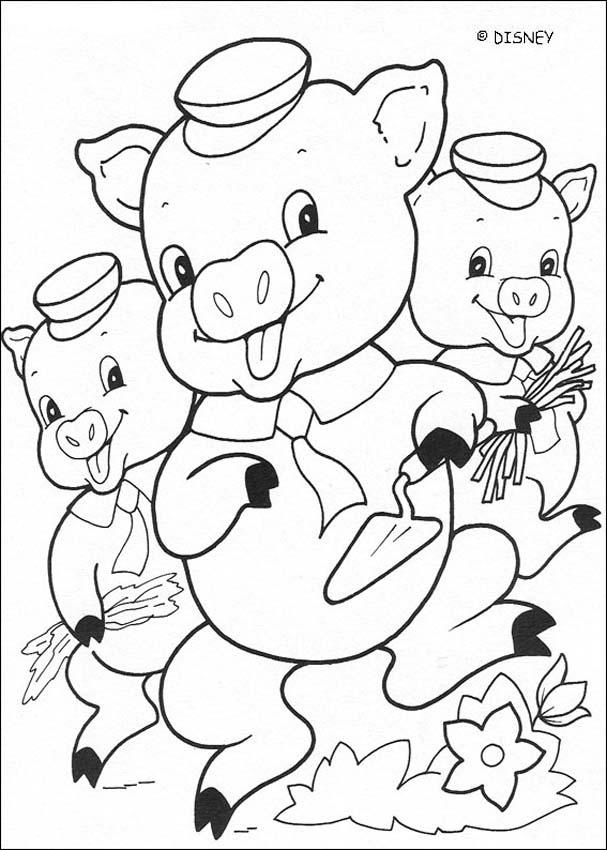 607x850 Three Little Pigs Coloring Pages