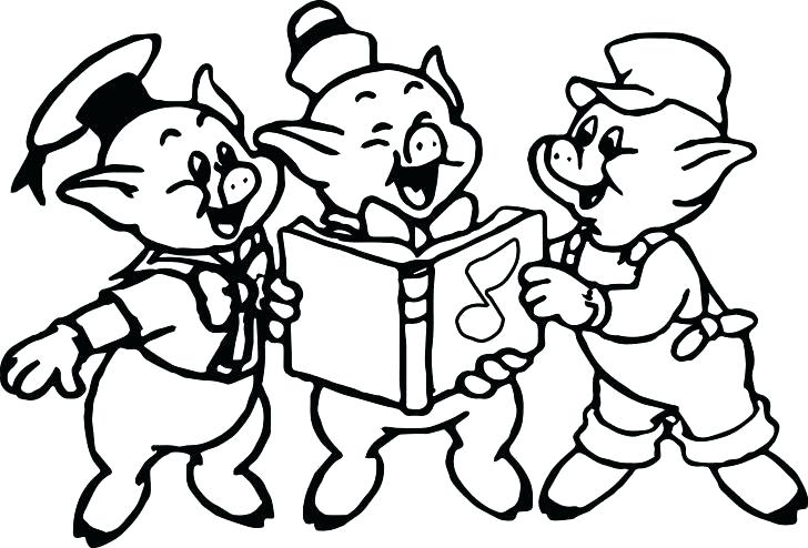 728x494 Little Pigs Coloring Pages Three Little Pigs Coloring Pages